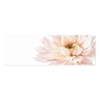 Pink Dahlia Artwork - Customize Pack Of Skinny Business Cards