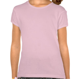 Pink Dahlia Blossom Girl's Fitted T-Shirt