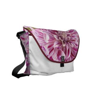 Pink Dahlia Blossom Mesenger Bag Commuter Bags