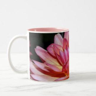 Pink dahlia blossoms coffee mug