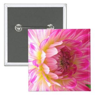 Pink Dahlia Button