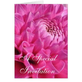 Pink Dahlia Card