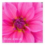 Pink Dahlia Custom Invite