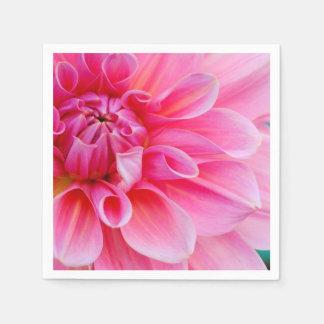 Pink Dahlia Disposable Serviette