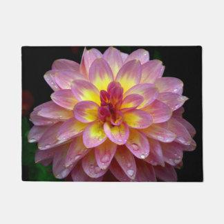 Pink dahlia doormat