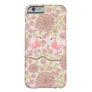 Pink dahlia, flamingo pattern Iphone case