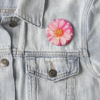 Pink Dahlia Flower Badge