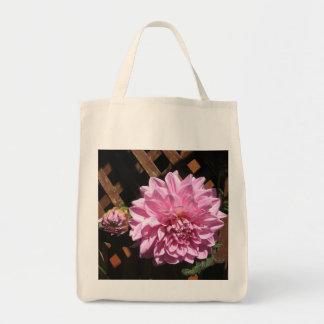 Pink Dahlia Flower Bags