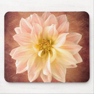 Pink Dahlia Flower Blossom Floral Mouse Mat