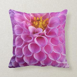 Pink Dahlia Flower Photo Cushion