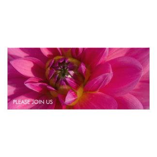 Pink Dahlia Custom Invites