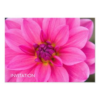 "Pink Dahlia 5"" X 7"" Invitation Card"