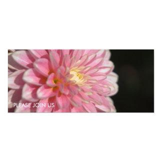 "Pink Dahlia 4"" X 9.25"" Invitation Card"