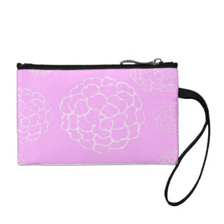 Pink Dahlia Key Coin Purse