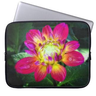 Pink Dahlia Laptop Bag Laptop Computer Sleeve