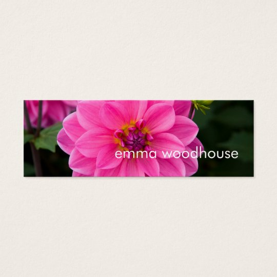 Pink Dahlia Mini Business Card