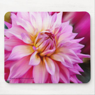 Pink Dahlia Mouse Pad