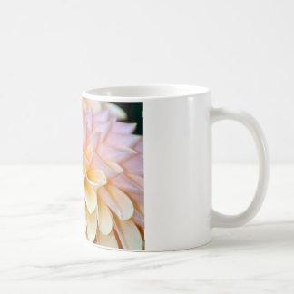 Pink Dahlia on white mug