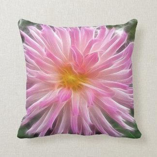 Pink Dahlia Pillow Throw Cushion