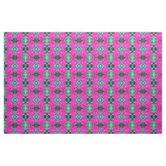 Pink Dahlia Print fabric