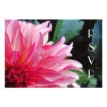 Pink Dahlia RSVP Card Custom Invitations