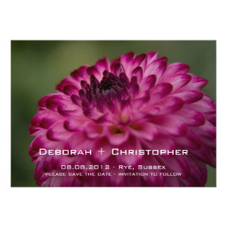 Pink Dahlia • Save the Date Announcement