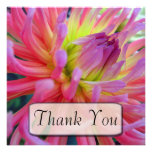 Pink Dahlia Thank You Cards Custom Invitations