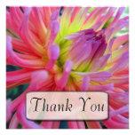 Pink Dahlia Thank You Cards Custom Invitations