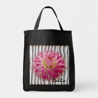 Pink Dahlia Totebag Canvas Bag