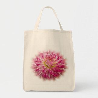 Pink Dahlia Totebag Grocery Tote Bag