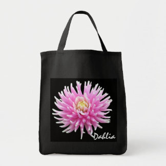 Pink Dahlia Totebag Canvas Bags