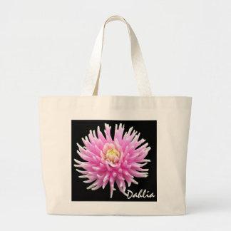 Pink Dahlia Totebag Canvas Bag