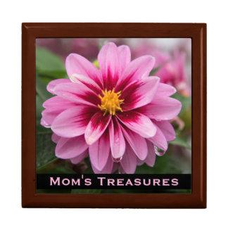 Pink Dahlia Treasure Box for Mom