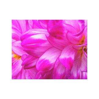 "Pink Dahlia's #3, 14"" x 11"", 1.5"", Single Canvas Print"