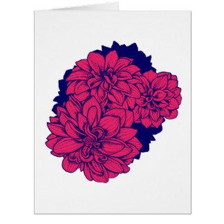 Pink Dahlias - Greeting card