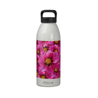 Pink Dahlias Water Bottles