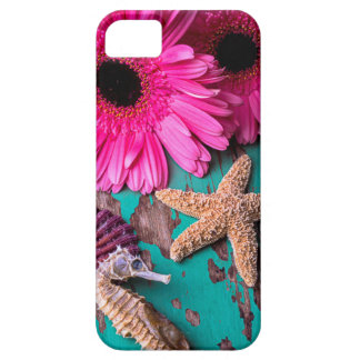 Pink Daises And Seahorse With Starfish iPhone 5 Covers