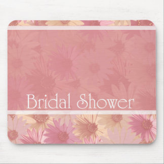 pink daises ~ bridal shower mouse pad