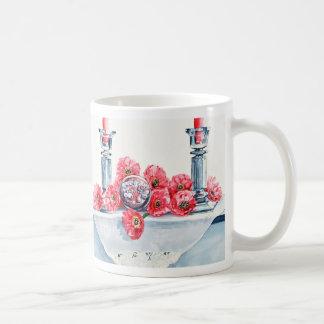 Pink Daisies and Crystal Mug