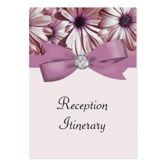 Pink Daisies Bow & Ribbon Wedding Business Card Templates