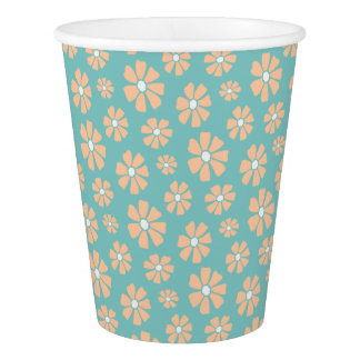 Pink Daisies Paper Cup