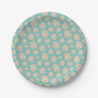 Pink Daisies Paper Plate
