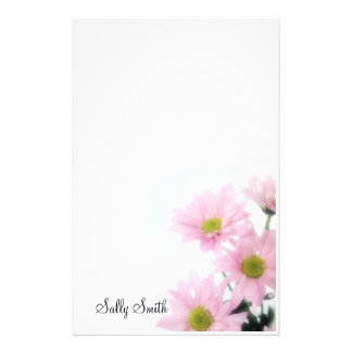 Pink Daisies Stationery - Personalize
