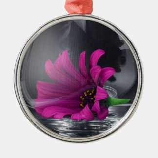 Pink Daisy Closeup In A Wine Glass Christmas Ornament