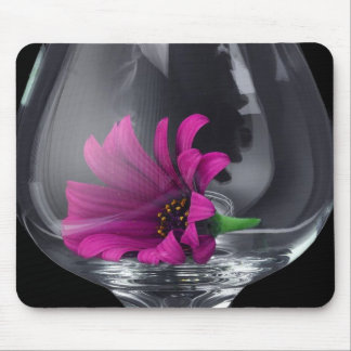 Pink Daisy Closeup In A Wine Glass Mouse Mat