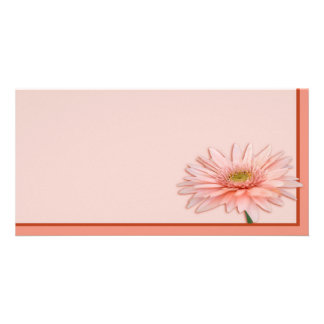 Pink Daisy Customised Photo Card
