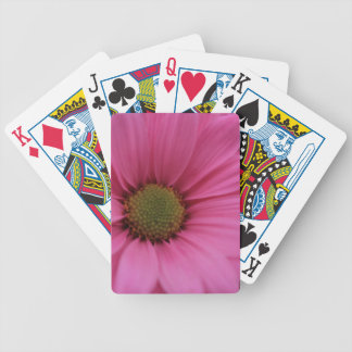 Pink Daisy Flower Bicycle Playing Cards