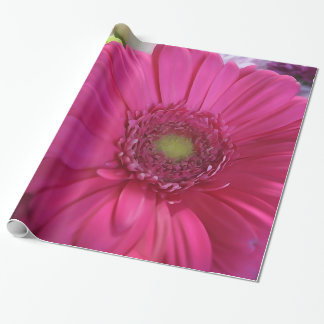 Pink Daisy Flower Bouquet Wrapping Paper