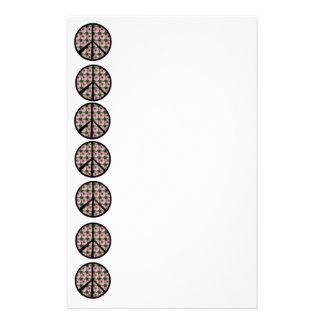 Pink Daisy Flower Peace Sign Stationery