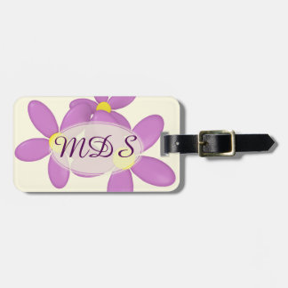 Pink Daisy Flowers Luggage Tag